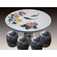 .供应景德镇陶瓷青花瓷登子 晶釉凉凳 装饰时尚家居凉凳