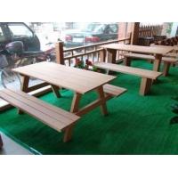 户外塑木休闲桌椅|河南郑州宏艺达木塑(塑木)产品