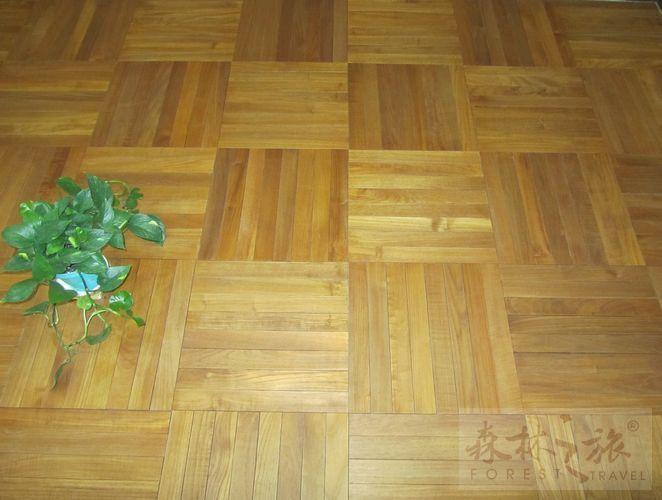 缅甸柚木地板-方块拼花产品图片,缅甸柚木地板-方块