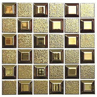 马赛克拼图;皮纹砖,面包砖