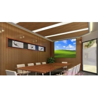 生态木墙板工程、PVC室内墙板工程图、长城板工程图