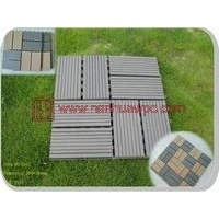 300*300木塑桑拿地板、木塑拼花地板、阳台防腐PE地板