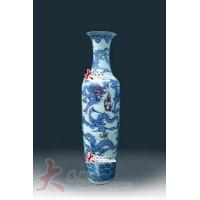景德镇陶瓷大花瓶_大楼装饰花瓶_大厅装饰瓷器