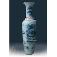青花墨彩瓷山水大花瓶
