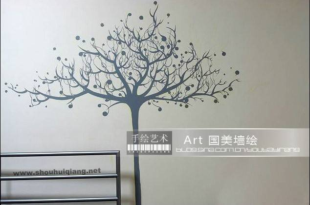 墙绘藤蔓|墙绘优雅藤蔓图片素材|藤蔓花边边框简笔画