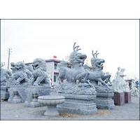 供应石雕雕刻各种石狮、麒麟、大象、石雕华表系列、园林雕塑、出