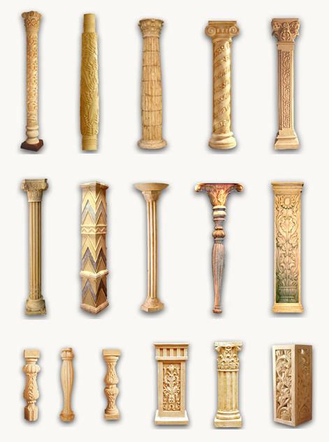 罗马柱雕塑图片