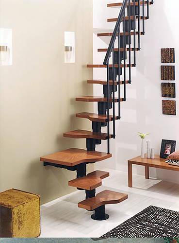 钢木楼梯家用楼梯