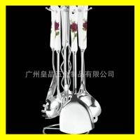 创意厨具 不锈钢厨具批发 空心柄厨具7件套价格 厨具厂家生产