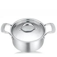 炊歌三层钢锅汤锅不锈钢锅无涂层节能锅少油烟