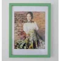 大兴16寸绿色实木相框木制相框
