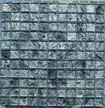 黑白手绘水晶马赛克