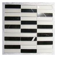 黑白水晶玻璃石材马赛克
