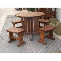 防腐木地板桌椅