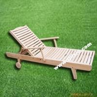 河南天一防腐木躺椅