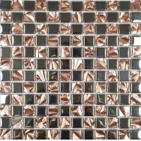 金色电镀马赛克批发 条形玻璃马赛克生产