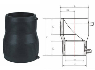 E给水管 PE排水管 PE管 管件 PE电熔异径直接