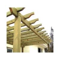 美华防腐木材(进口木材)-廊架