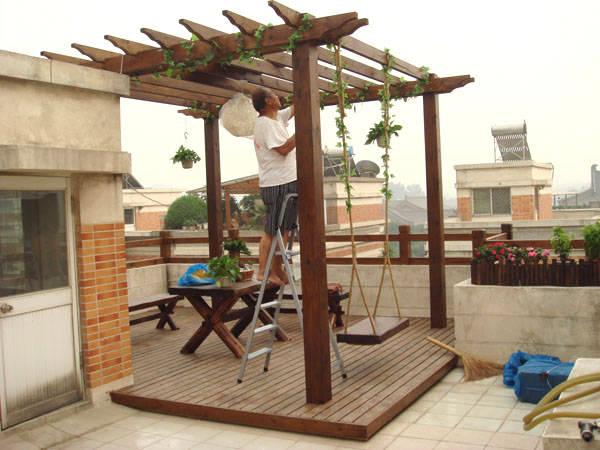 大雁塔广场御花园别墅区 - 陕西西安典藏户外家具-木