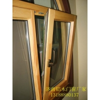 济南别墅用铝木复合门窗 铝包木门窗