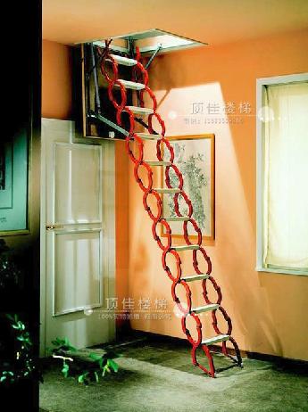 供应顶佳全自动伸缩楼梯北京全自动伸缩楼梯,深圳阁楼楼梯