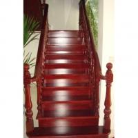 南京红灯木楼梯-L型木楼梯-装修实景图6