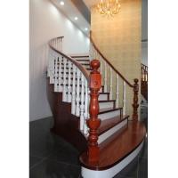 南京红灯木楼梯-扇型木楼梯-装修实景图