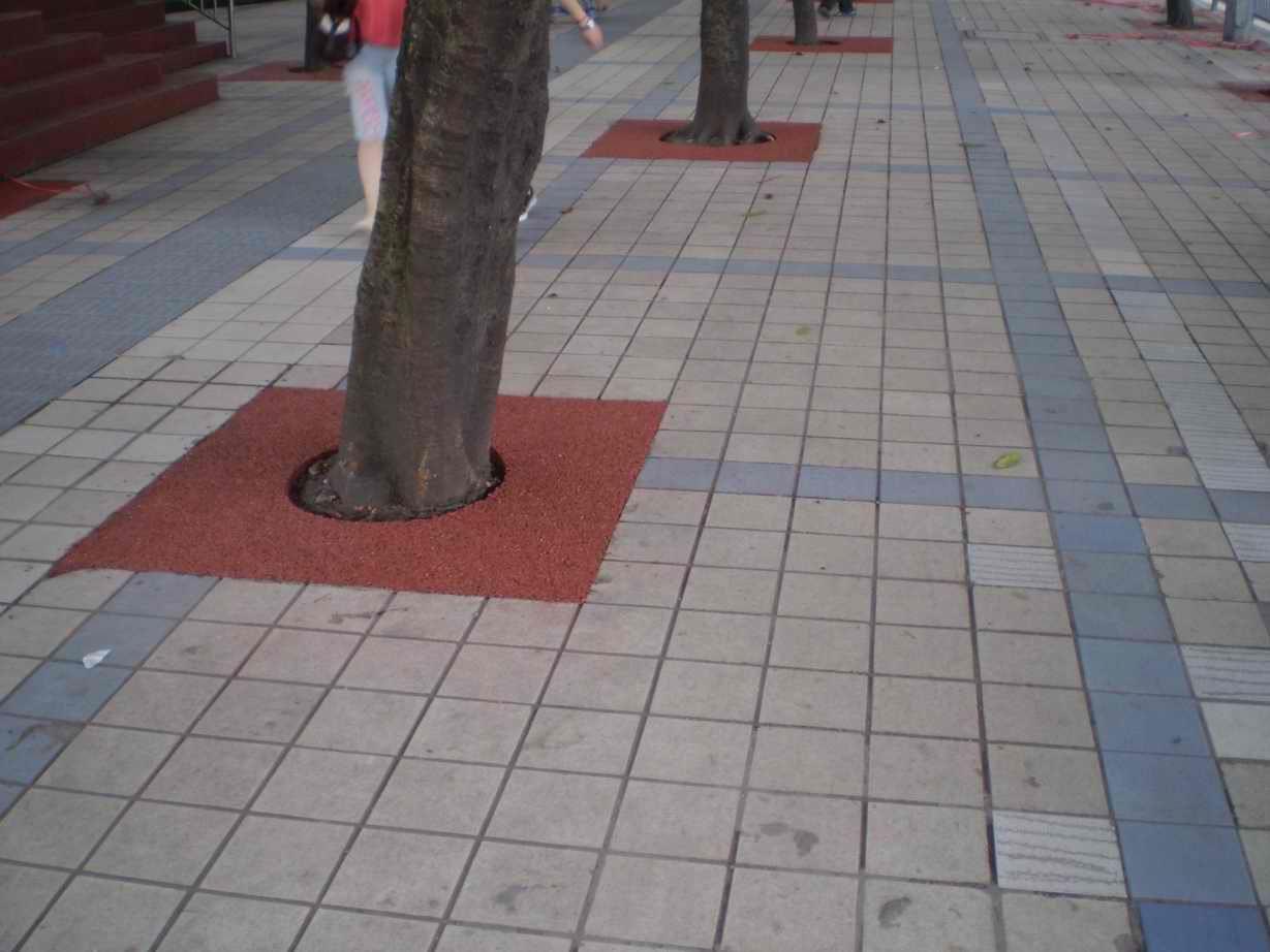 四川成都彩色透水沥青树圈