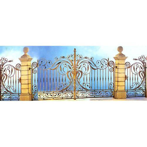 南京联润铁艺装饰工程公司-大门系列-锻钢大门-HF-D007