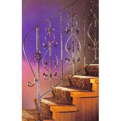 南京联润铁艺不锈钢装饰-楼梯扶手系列-锻钢扶手-LR-E00