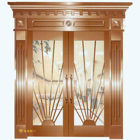 南京联润铜艺装饰-艺术铜门系列-日照中堂