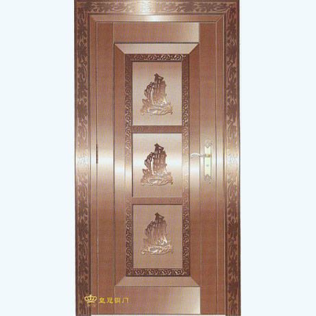 南京联润铜艺装饰-艺术铜门系列-一帆风顺