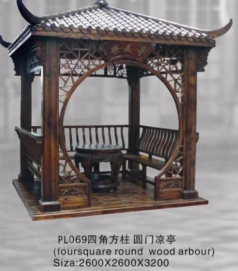 东阳木雕—茶亭06