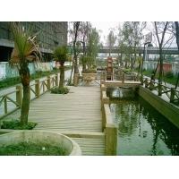 成都  防腐木栏杆/护栏-河道栏杆