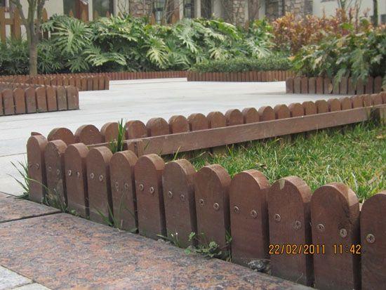 防腐木栏杆/护栏-花池围栏
