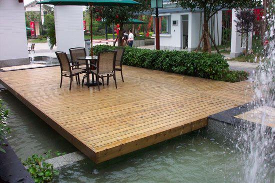 防腐木地板-亲水平台