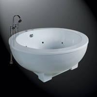 吉事多-1.5米独立圆形按摩压克力浴缸(有裙)