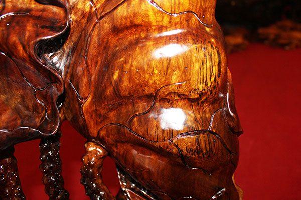 金丝楠乌木摆件 鲤鱼荷花bj-113   材质 竹/木  摆挂形式 摆饰  产品