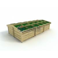 超市水果架,果蔬堆头,木制蔬菜陈列架,定做水果架子