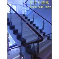 青岛楼梯玻璃护栏  玻璃楼梯  楼梯扶手 楼梯护栏 钢木楼梯