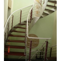 DS01双钢板楼梯(鲁能星城实景拍摄)