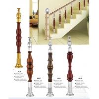 不锈钢夹木立柱,室内楼梯立柱