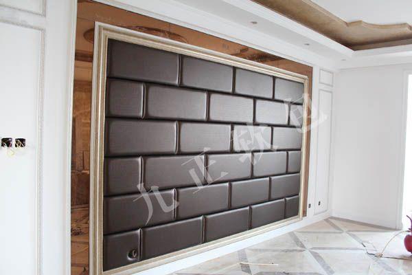客厅长方形砖墙软包