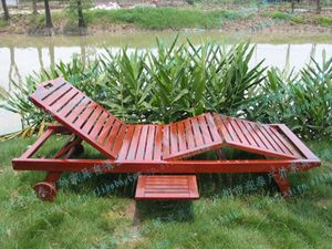 厂家直销户外实木沙滩椅户外躺椅