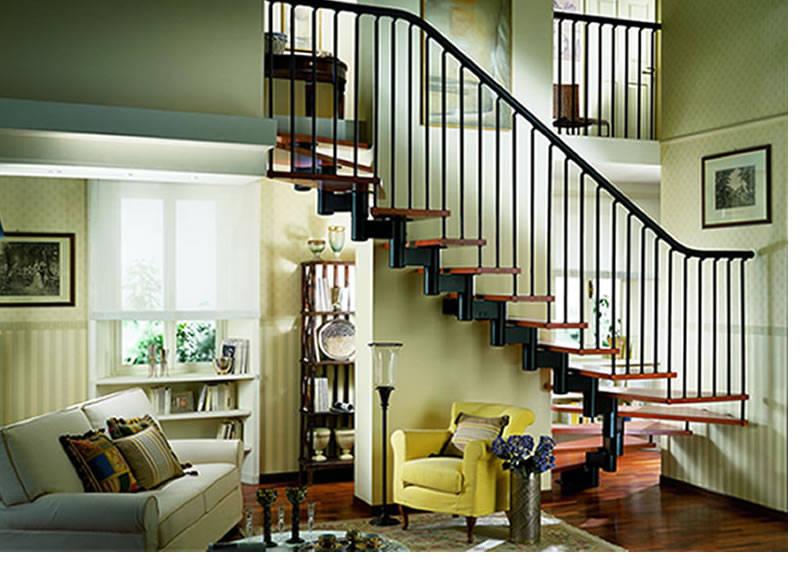 室内楼梯透视手绘图