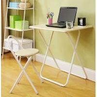 折叠学生书桌书椅简易电脑桌学生桌汇美居时尚简易书房家具