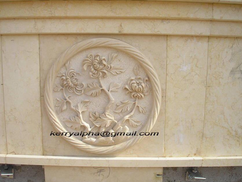 大理石浮雕-菊 - 产品库