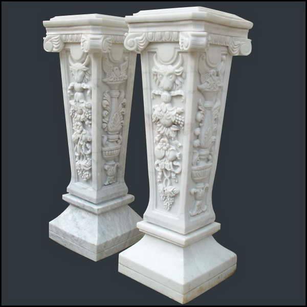 其他各种样式、颜色、尺寸罗马柱、圆柱、空心柱等均可定做。 自1993年成立至今,我厂专业雕刻各类天然石制品,如东西方人物、动物、喷泉、风水球、壁炉、门套、花盆、浴盆、凉亭、立柱、石桌、石椅、浮雕、栏板、墓碑等. 我们不仅有大量库存供您选择,并有专业的设计、雕刻人员,能够按您的图片、图纸或者构思设计生产出另您满意的产品.