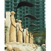 高尔夫球场喷泉区人造砂岩圆雕喷水人物雕塑