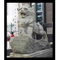 石雕狮子 石狮子 港狮 汉白玉石狮子 拓荒牛